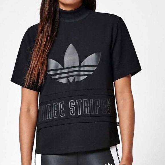 188b60a703a 🔥NWT adidas Originals High Neck THREE STRIPES Tee NWT